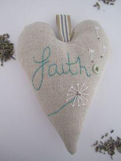 embroidered faith heart