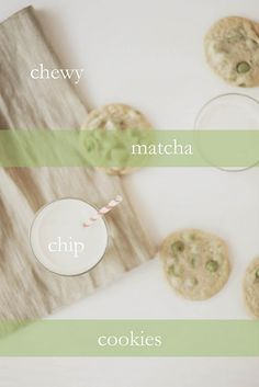Maccha chip cookies - if only I were un-lazy enough to get a piping bag and pipe some white chocolate and maccha into chips!
