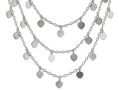 Me and Ro Me Sterling Silver Three Tier Lotus Petal Chain