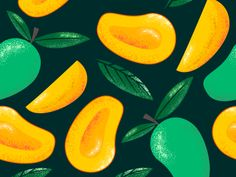 Mango Fruits designed by Eka W. Connect with them on Dribbble; the global community for designers and creative professionals. New Fruit, Fruit Art, Fruit Tree Garden, Fruit Logo, Fruits Drawing, Fruit Decorations, Fruit Illustration, Fruit Of The Spirit, Fruit Pattern