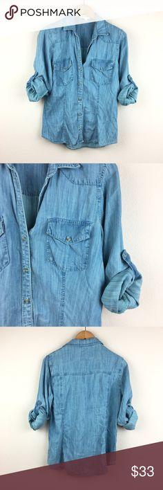 2f6b210aeb Cloth   Stone Tencel Denim Button Up Shirt 100% tencel. Denim chambray.  Super