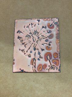 Inspired by dandelions, Guilding metal using Transparent enamel.