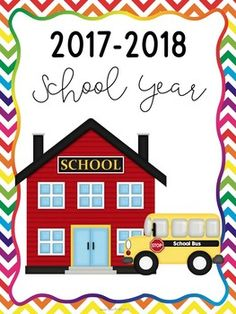 2017-2018 School Calendar This 2017-2018 school calendar comes in two different versions. The first calendar in the file is a 2 page layout for each month. The second version in the file includes the entire month on 1 page. These can be printed and bound for