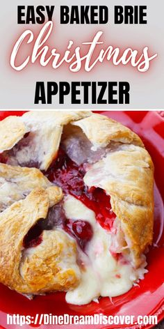 What's better than when an Ooey gooey cheese meets sweet dessert flavors in this Easy Baked Brie Puff Pastry recipe with Cherry pie filling. The ultimate holiday appetizer recipe.