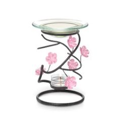 PartyLite Cherry Blossom Melt Warmer.  There is also a lantern, votive holder and centerpiece in this collections.  www.partylite.biz/cmblosom
