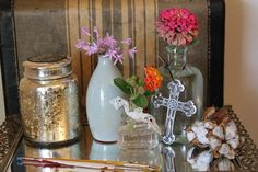 vintage window sill for wedding - Google Search