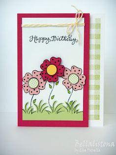 DeNami Whimsical Birthday Flowers card by Lisa