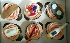 Pills, pharmacy, drug store, medical cupcakes