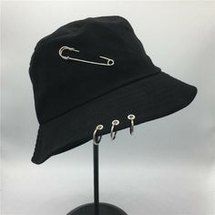 Cheap bucket hat, Buy Quality bucket hat fashion directly from China bucket hat style Suppliers: Hot selling 2017 BTS Fashion K POP Iron Ring Bucket Hats popular style cap handmade rings Outfits With Hats, Edgy Outfits, Teen Fashion Outfits, Retro Outfits, Cool Outfits, Best Cowboy Hats, Mens Bucket Hats, Mode Chanel, Mode Kpop