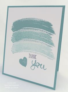 Stampin' Up! Work of Art. Simple one layer card, but lovely. (By suNNstampin)