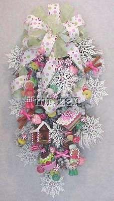 Gingerbread Cookies Cupcake Christmas Peppermints Baker Boy Girl Swag Wreaths | eBay