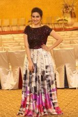 Manjusha Photos At BabuBangaram Sucessmeet event,she hosted the event,telugu anchor Manjusha latest photos,Manjusha looks cute in the event