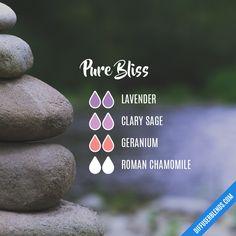 Blend Recipe: 2 drops Lavender, 2 drops Clary Sage, 2 drops Geranium, 2 drops Roman Chamomile
