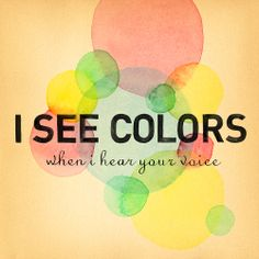 I see colors when I hear your voice/  AndrewMcMahon - Synesthesia Lithograph