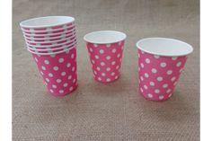 Χάρτινα Ποτηράκια Πουά JL014P  Χάρτινα ποτηράκια πουά σε ροζ χρώμα. Ιδανικά για το candy buffet της βάπτισης αλλά και για παιδικά party ή εκδηλώσεις. Συνδυάστε τα ποτηράκια με αντίστοιχα πιατάκια, καλαμάκια και χάρτινα σακουλάκια για να δώσετε ένα χαρούμενο ύφος στο τραπέζι σας.Διαστάσεις: 5 x 8cmΣυσκευασία 10 τεμαχίων.