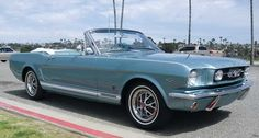 1966 Ford Mustang Convertable - with the dice in the mirror...