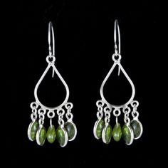 Great Falls Metalworks - petite Teardrops earrings in silver with peridot (LSE_036-PE). DVVS Fine Jewelry #Augustbirthstone
