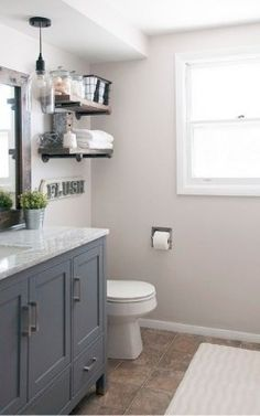 Get inspired by Modern Farmhouse Bathroom Design photo by Cherished Bliss. Wayfair lets you find the designer products in the photo and get ideas from thousands of other Modern Farmhouse Bathroom Design photos. Cafe Industrial, Industrial Farmhouse Decor, Diy Home Decor Rustic, Farmhouse Style, Industrial Style, Industrial Bathroom, Farmhouse Design, Industrial Furniture, Industrial Windows
