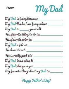 Best Father's Day Ideas For Preschoolers 2014