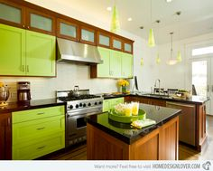 16 Nicely Painted Kitchen Cabinets