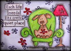 An ATC made using Stampotique stamps.