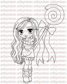 Digital Stamp Candy Cindy Digi Stamp Coloring page by artbymiran