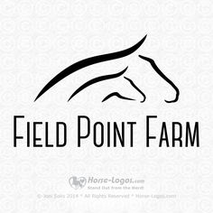 Customized horse logo design created by Joni Solis of Horse-Logos.com and sold to Mary Enges of Field Point Farm. #horselogo #logo #horse #equestrian #branding #design Horse Clip Art, Letterhead Logo, Horse Clipping, Eagle Point, Horse Logo, Horse Silhouette, Logo Sign, Horse Farms, Equine Art