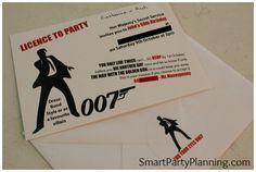 Stuck for awesome themed birthday party ideas? The James Bond Theme Party is fun but also helps party ideas flow. A 007 theme party is one with style! / Smart Party Planning