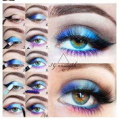 purle blue makeup tutorial