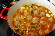 This albondigas soup recipe was given to me from my mother-in-law. Its definitely one my favorite soups. Honestly, its better than most restaurants that Ive tried.