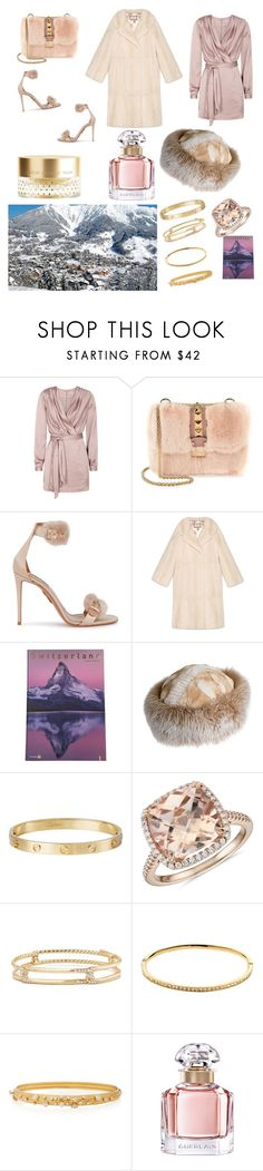 """""""Lausanne"""" by giannilachica ❤ liked on Polyvore featuring Finders Keepers, Valentino, Aquazzura, Gucci, Bosch, Overland Sheepskin Co., Cartier, Blue Nile, David Yurman and Melissa Odabash"""