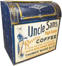 Uncle Sam's Roasted Coffee store bin, Thomas Wood  Co.