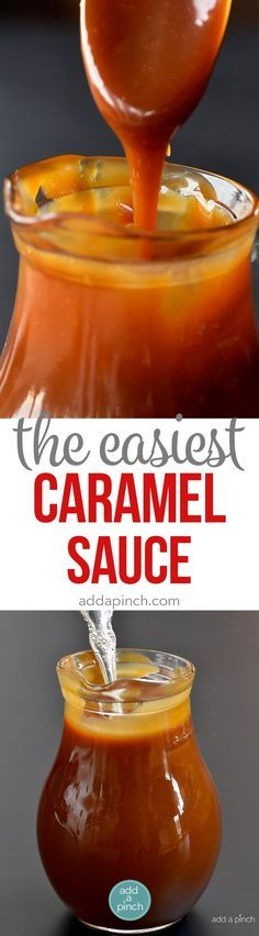 The Easiest Salted Caramel Sauce Recipe - The absolute best salted caramel sauce recipe that I have ever tasted! Smooth, creamy and perfect every single time! // addapinch.com