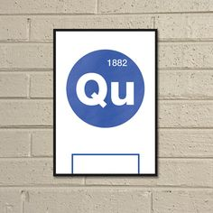 Essential Elements QPR A4 Football Print in blue and by TommySauce, £9.99