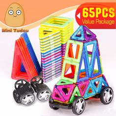 Minitudou 3D Assemblage 65PCS Building Blocks Model Kit Magnetic Constructor Gift Diy Enlighten Bricks Educational Kids DIY Toy #>=#>=#>=#>=#> Click on the pin to check out discount price, color, size, shipping, etc. Save and like it!
