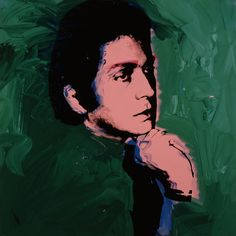 Valentino painted by Andy Warhol.  1974