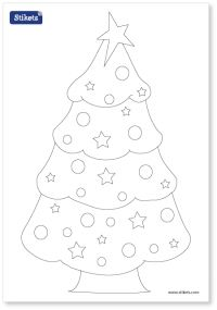 stikes printables rbol de navidad infantiles
