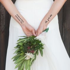 Temporäre Tattoos zur Hochzeit, für Braut und Bräutigam / temporary wedding tattoos for bride and groom made by CONSTANT LOVE via DaWanda.com