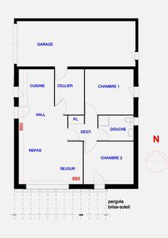 plan maison plain pied f3