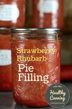 Feinmotorik-Ausgleichsspiel - New Ideas Rhubarb Desserts, Rhubarb Recipes, Strawberry Rhubarb Pie Filling Canning Recipe, Home Canning Recipes, Canning Tips, Jelly Recipes, Jam Recipes, Cooker Recipes, Canned Strawberries