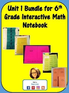 Find gcf and lcm using a ladder diagram foldable with practice this bundle includes the first 23 pages of my 6th grade math interactive notebook included foldables ccuart Choice Image