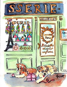 """I dreamed my pet went to Paris"" . Paris Drawing, Paris Illustration, Paris Girl, Whimsical Art, Pictures To Paint, Artist Art, Cute Drawings, Illustrations Posters, Book Art"