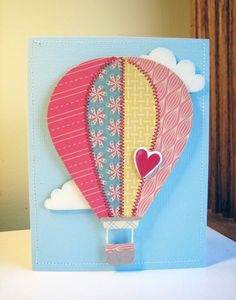 Hot Air Balloon Craft Template | ... one in the Hot Air Balloons section. Here's my favorite of the two