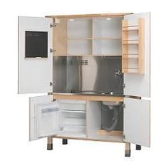 Armoire Turned Mini Kitchen. Great For A Guest Room Or Finished Basement.  By Jen Munday   Basement Ideas   Pinterest   Mini Kitchen, Armoires And  Basements