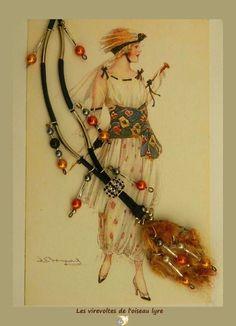 """Sautoir Bohème Chic. Bijou à parfumer. Romantique. """"Chemin de perles en Automne"""". Fait main. Pièce unique. : Collier par les-virevoltes-de-l-oiseau-lyre"""