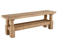The Danish Hall Bench in a pleasing Wheat finish has beautiful turned legs with square feet, and a plank seat with rounded edges. Engaging arranged in entryways, bedrooms, or used as dinning seating.