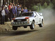 Hannu Mikkola sur une Audi Quattro au Rallie des 1000 Lacs en 1982. by Beast 1, via Flickr