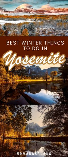 Traveling to Yosemite in the winter? Here are the best things to do! #yosemite #usatravel