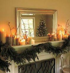 christmas mantel decor.
