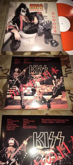 Music Albums: Kiss Japan In The Can Lp Live 1977 Tokyo Orange Vinyl -> BUY IT NOW ONLY: $36 on eBay!